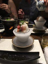 Sashimi auf Eis